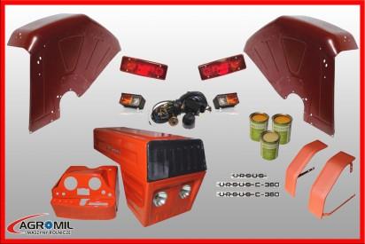 Maska metalowa Dziekan do ciągnika C-360 z kompletem części (Błotniki tylne zaokrąglone)