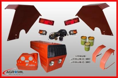 Maska metalowa Dziekan do ciągnika C-360 z kompletem części (Błotniki tylne kwadratowe)