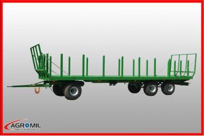 Przyczepa platformowa dwuosiowa T025KM ładowność 88,9t