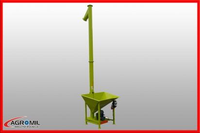 Przenośnik ślimakowy pionowy dł.4m, śr.140mm