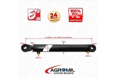 Cylinder hydrauliczny skok 400mm 2-str działania