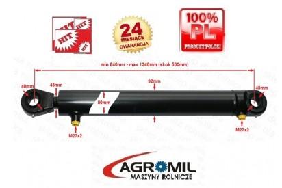 Cylinder hydrauliczny 80/45/500 L:840